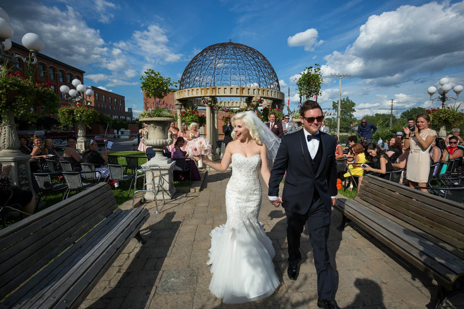 Espace Canal wedding ceremony outdoor Montreal