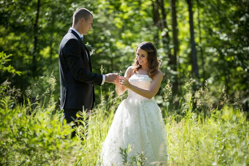 Pixelicious Kc and Quinn wedding Rosebud Resort bridal portraits in forest