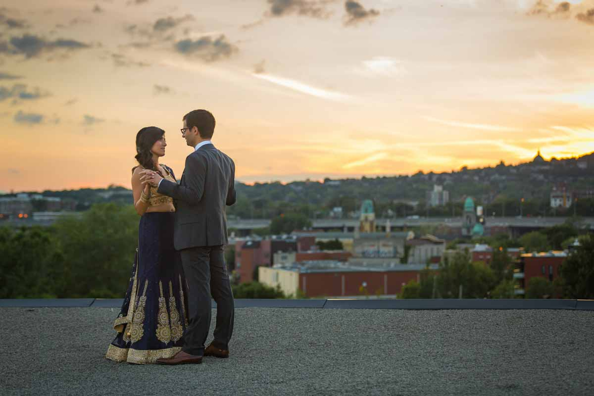 Entrepôts Dominion rooftop wedding Montreal Quebec