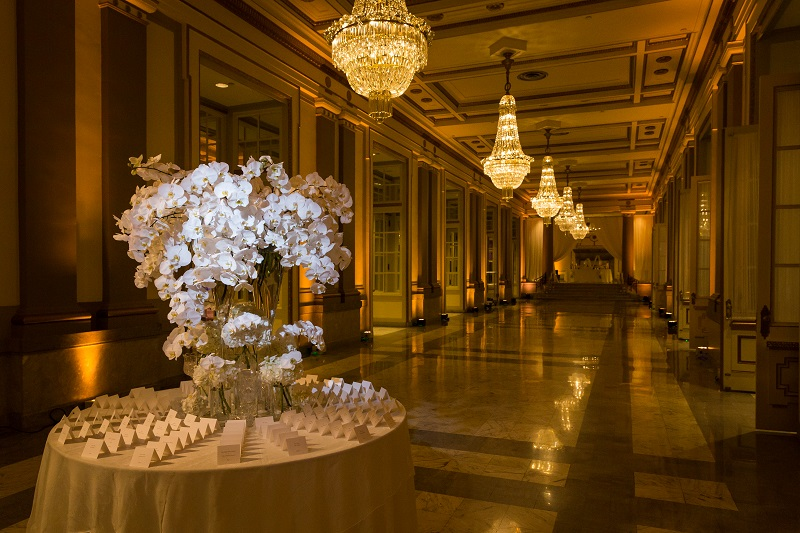 Opulent and elegant wedding reception at the Windsor Ballroom