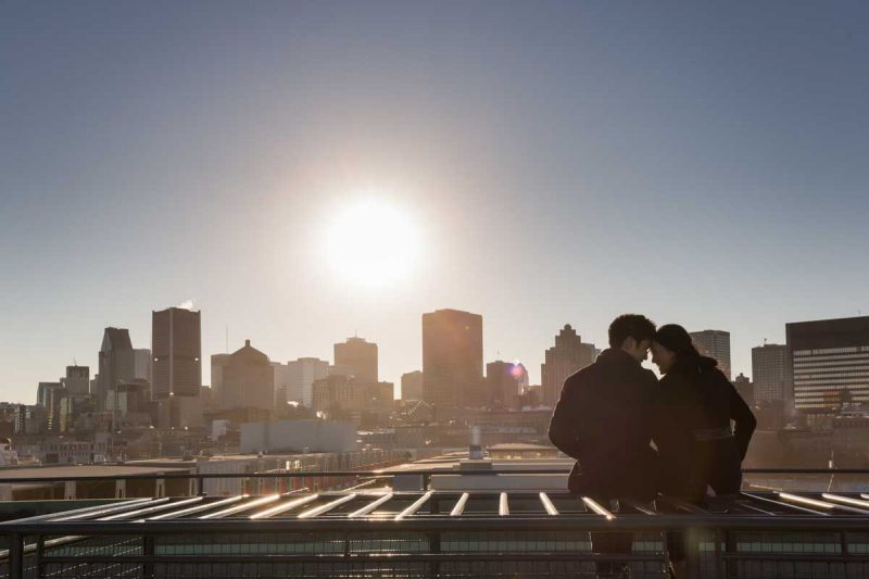 Montreal Science Center engagement session portraits Old Port Montreal Quebec