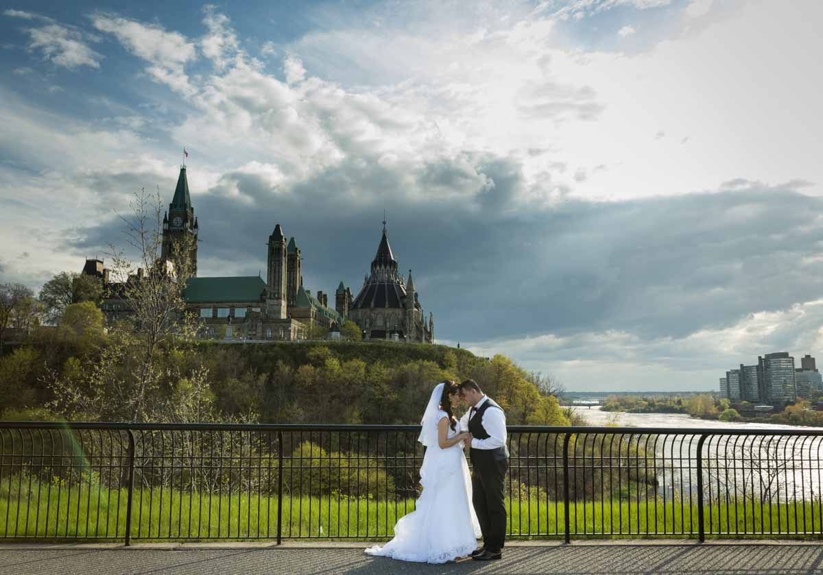 Ottawa Parliament wedding river