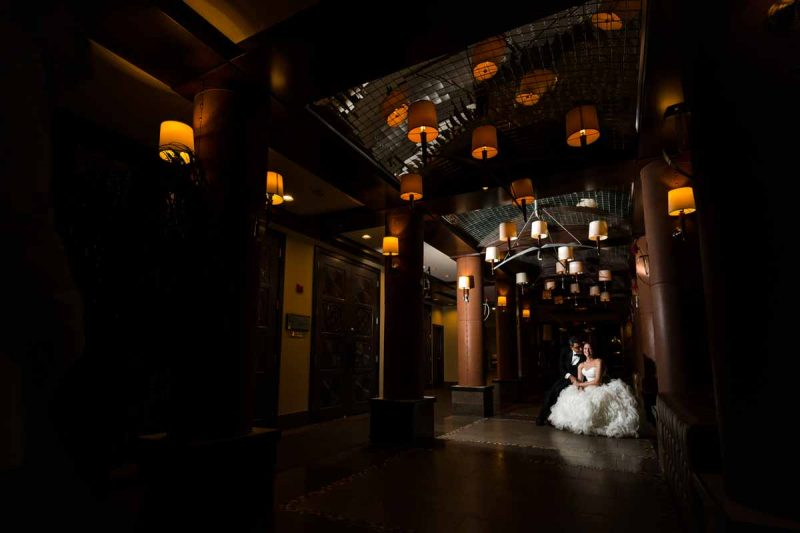 Montreal hotel Nelligan entrance wedding reception