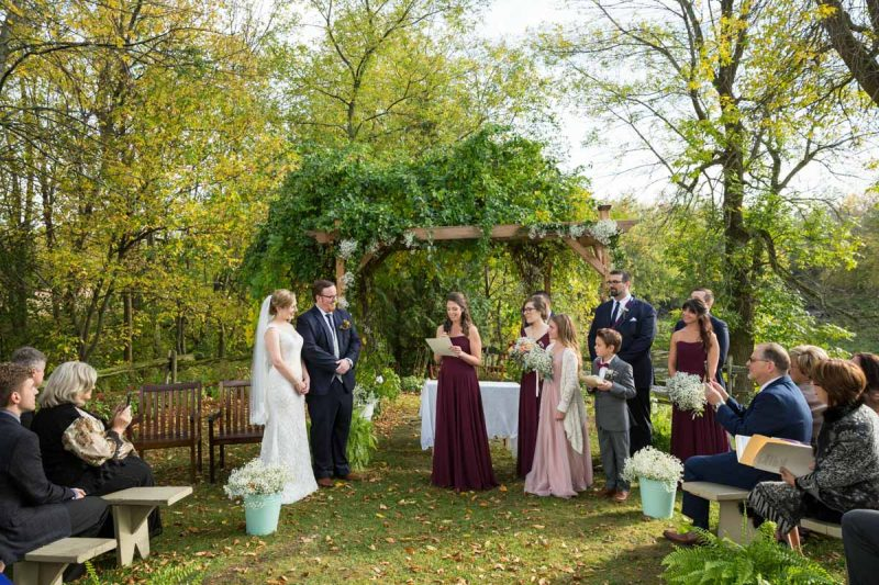 Bergeries de l'Acadie outdoor wedding ceremony