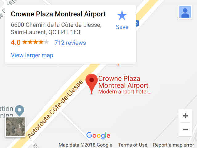 map - crowne