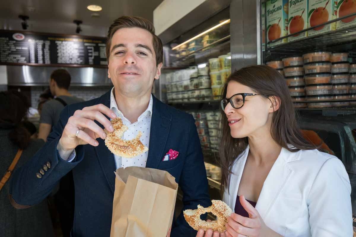 Buying Fairmount bagels in Montreal