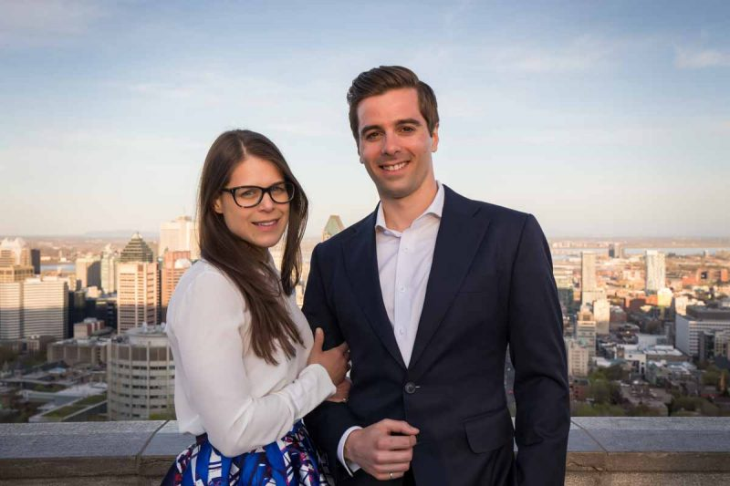 Montreal engagement at chalet mount-royal