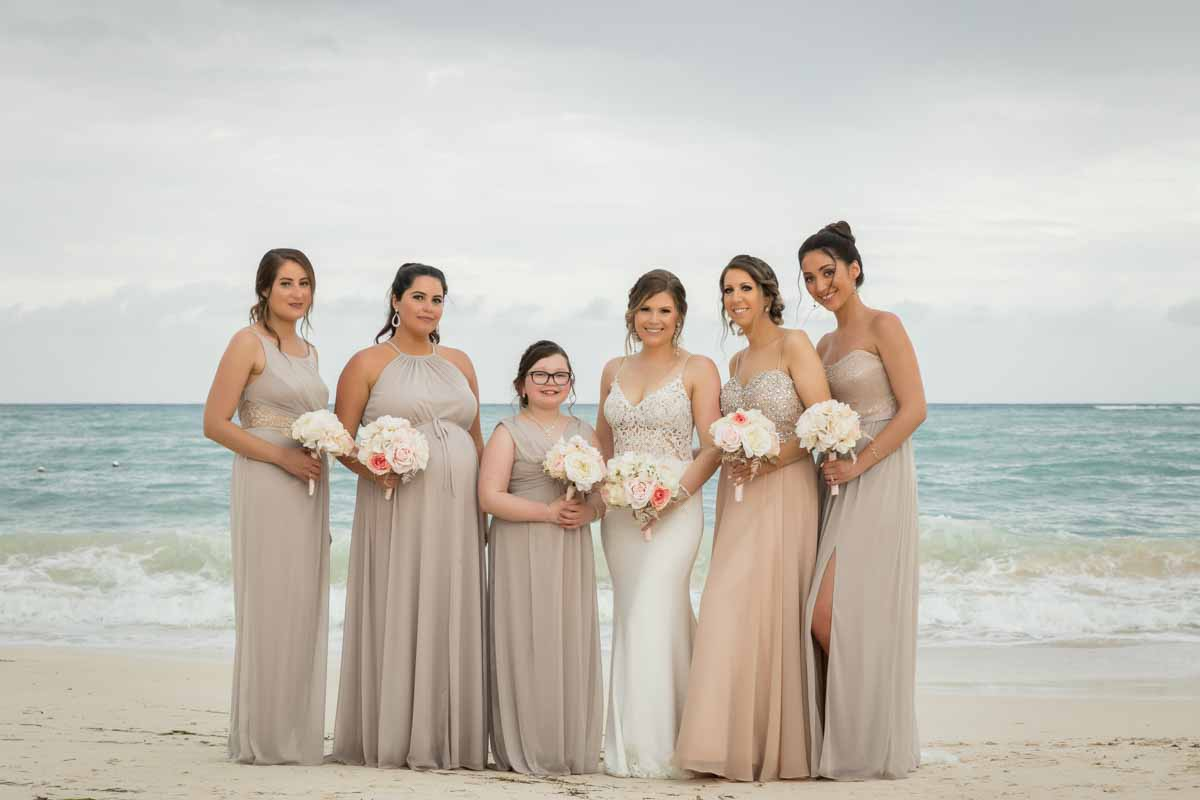 Bridesmaids group picture Jamaica Royalton White Sands Montego Bay