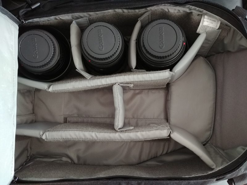 3 lenses in bag