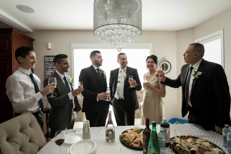 Toast to groom at home
