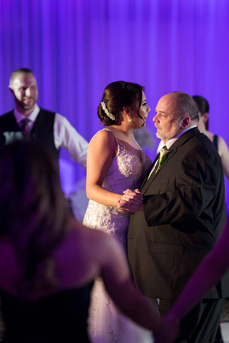 Daughter and father dance