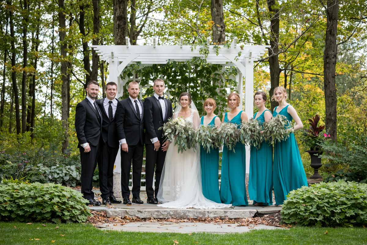 Group photo of bridal party
