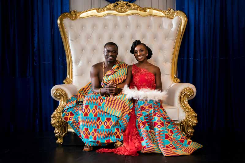 Traditional Ghanaian wedding outfit at La Plaza